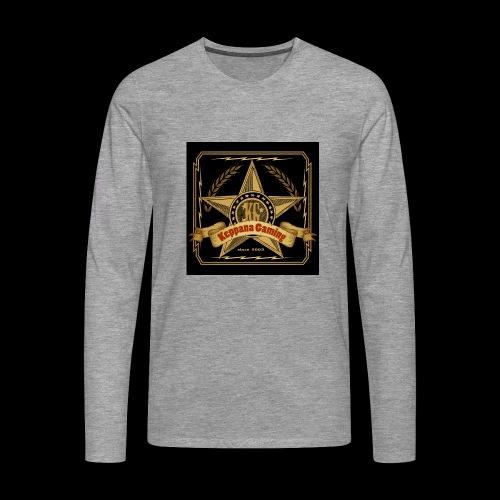 etiketti - Miesten premium pitkähihainen t-paita