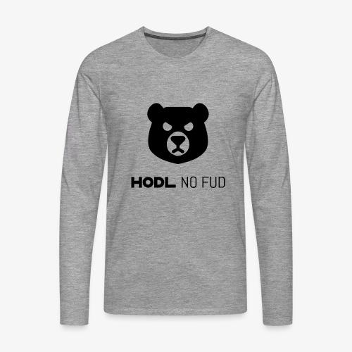 HODL-bearnofud-b - Men's Premium Longsleeve Shirt