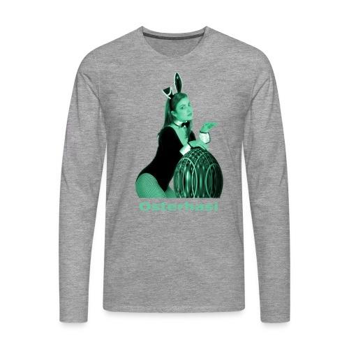Osterhasi grün - Männer Premium Langarmshirt