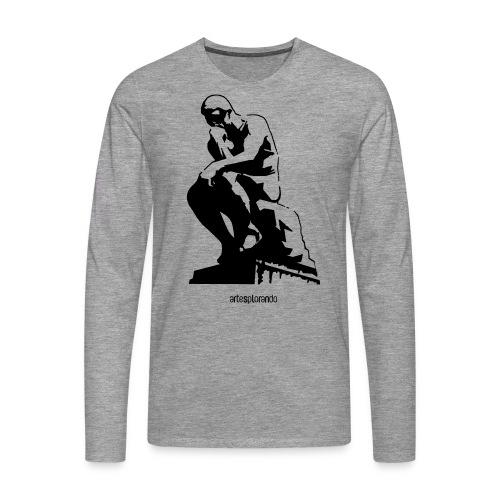 Auguste Rodin, il pensatore - Maglietta Premium a manica lunga da uomo