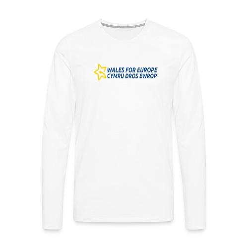 Peoples Vote Remain in EU - Miesten premium pitkähihainen t-paita