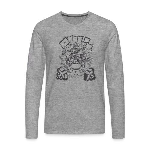Pull Schwarz - Männer Premium Langarmshirt