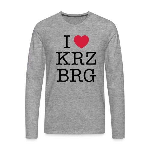 I love KRZBRG - Männer Premium Langarmshirt