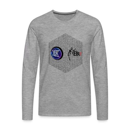 disen o dos canales cubo binario logos delante - Men's Premium Longsleeve Shirt