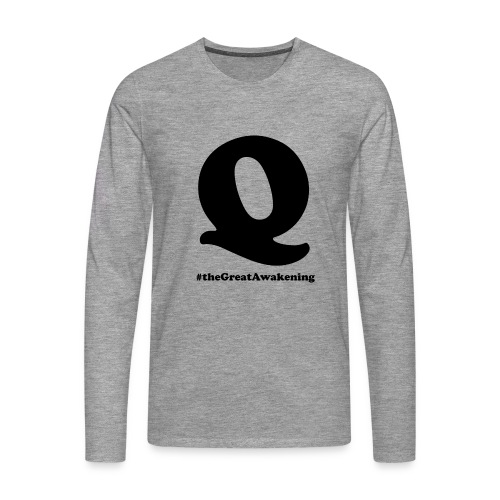 Q Anon #theGreatAwakening - Miesten premium pitkähihainen t-paita