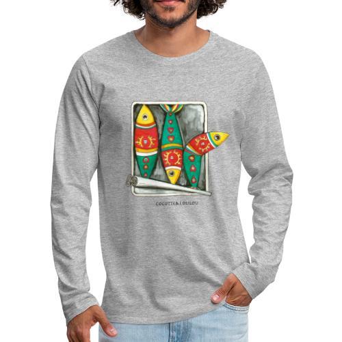 Les sardines - T-shirt manches longues Premium Homme