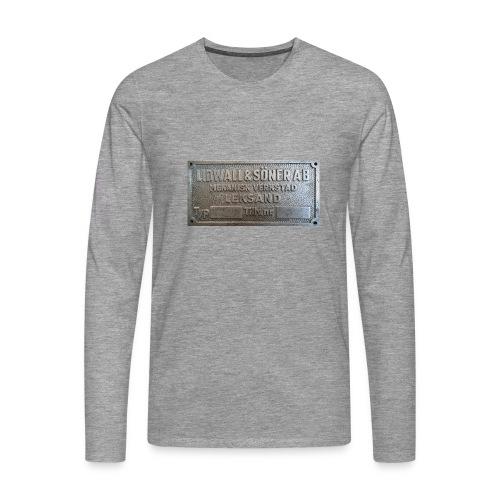 Tillverkningsskylt före 1967 - Långärmad premium-T-shirt herr