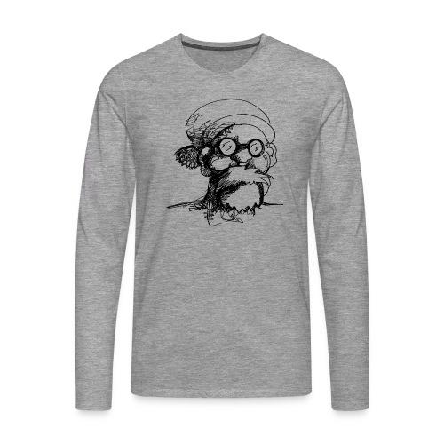 Santa Sketch - Men's Premium Longsleeve Shirt