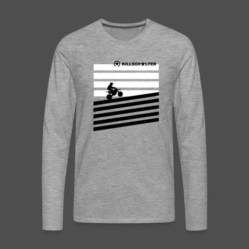 DIRT BIKE RIDER 0DR01 - Männer Premium Langarmshirt