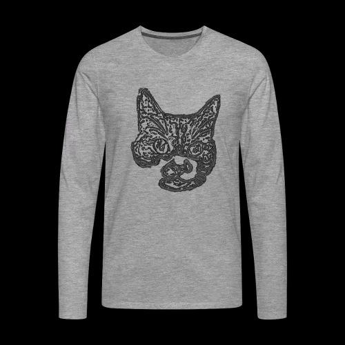 Stange Cat - Maglietta Premium a manica lunga da uomo