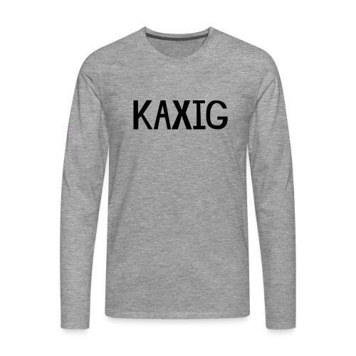 KAXIG - Långärmad premium-T-shirt herr