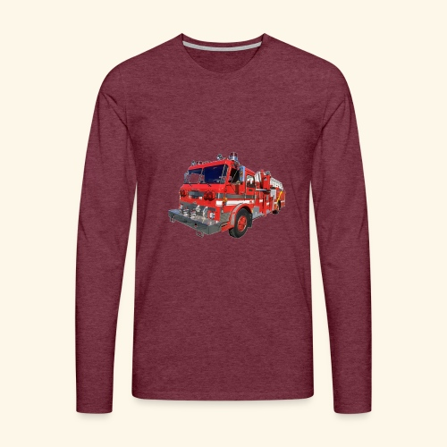 Red Fire Engine - Men's Premium Longsleeve Shirt