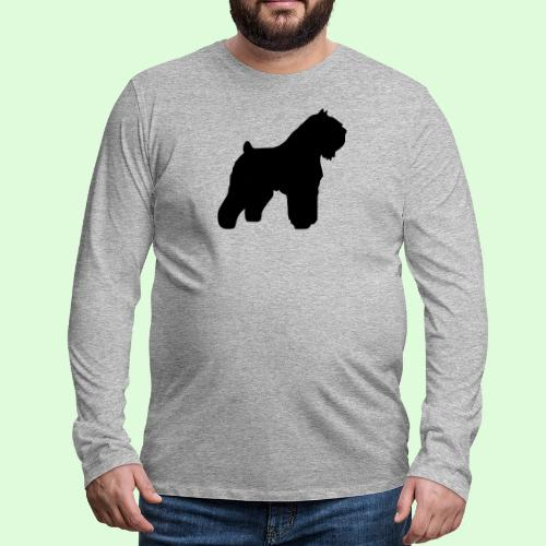 Bouvier des Flandres, la silhouette - T-shirt manches longues Premium Homme