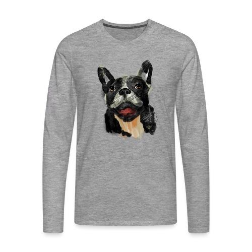French Bulldog Portrait - lebendig und urban - Männer Premium Langarmshirt