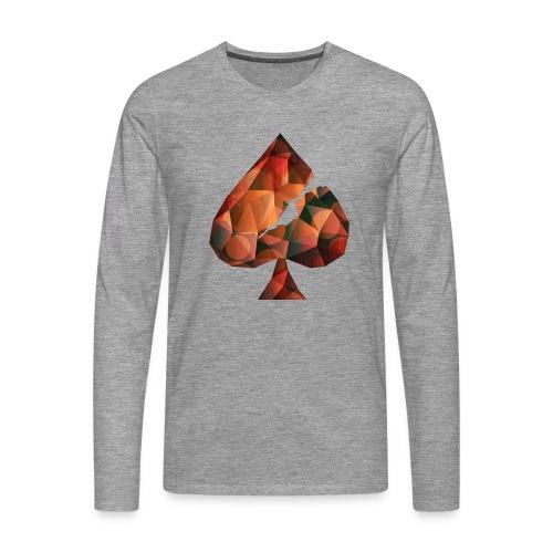 Crystal Spades - Männer Premium Langarmshirt