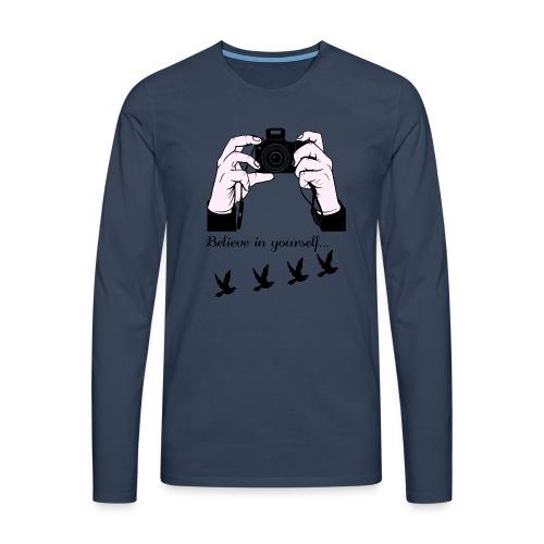 fotografia - Maglietta Premium a manica lunga da uomo