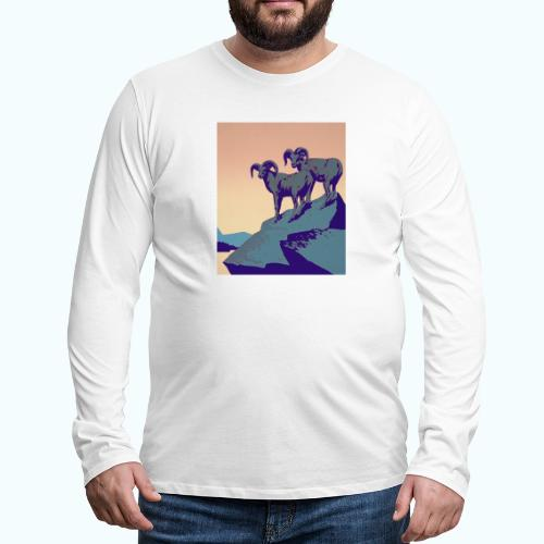 Vintage Capricorn Travel Poster - Men's Premium Longsleeve Shirt