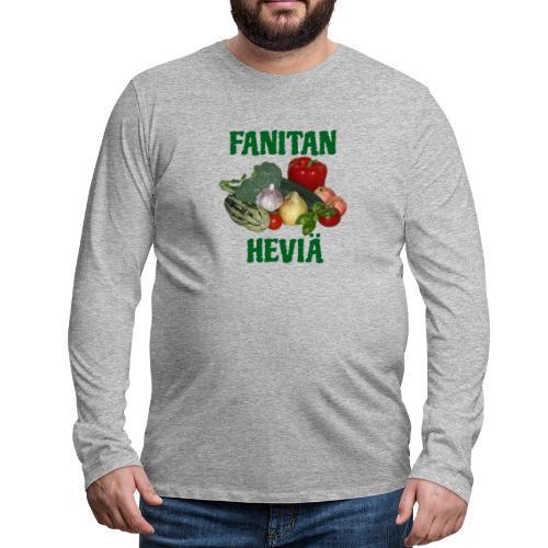 Fanitan heviä - Miesten premium pitkähihainen t-paita