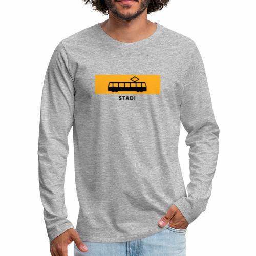 RATIKKA PYSÄKKI KYLTTI STADI T-paidat ja vaatteet - Miesten premium pitkähihainen t-paita
