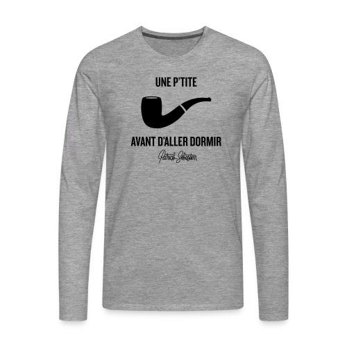 Une p'tite pipe - T-shirt manches longues Premium Homme