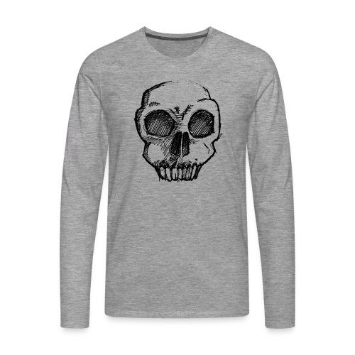 Skull sketch - Men's Premium Longsleeve Shirt
