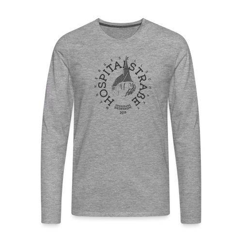 Männer(einfarbig) - helle Textilien - Männer Premium Langarmshirt