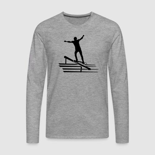 Skateboard - Männer Premium Langarmshirt