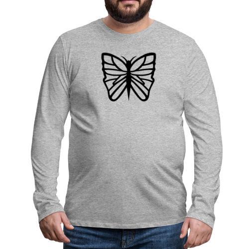 Avancerat fjärilsmotiv. - Långärmad premium-T-shirt herr