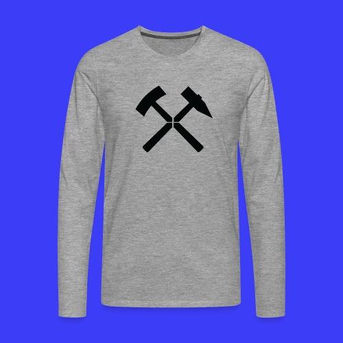 Pałki żelazne - Koszulka męska Premium z długim rękawem