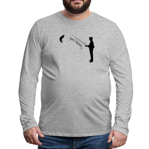 Angler gone-fishing - Männer Premium Langarmshirt