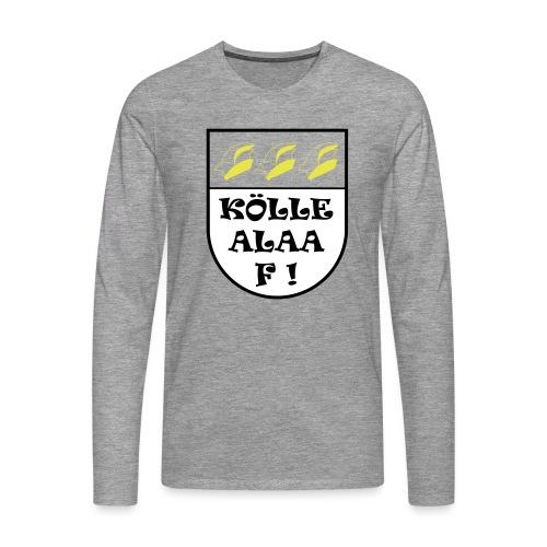 Wappen Kölle Alaaf! ohne rot - Männer Premium Langarmshirt