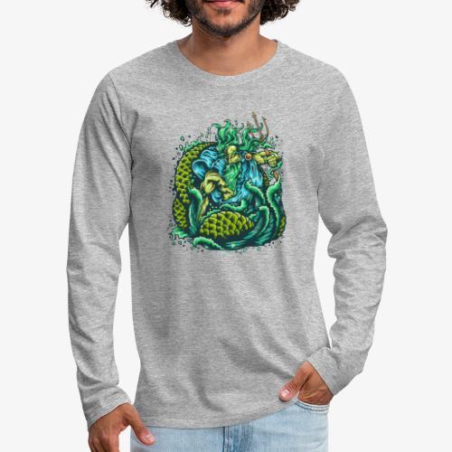 Gott des Meeres - Männer Premium Langarmshirt