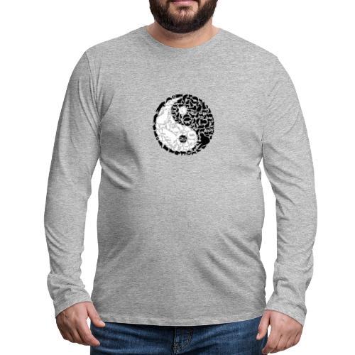 YinYang Cats - Männer Premium Langarmshirt