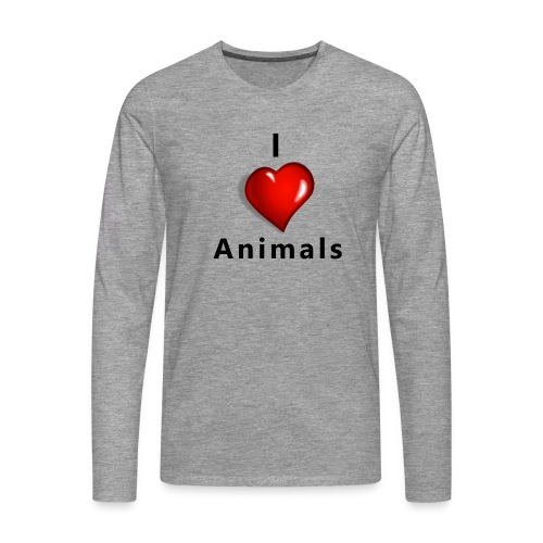i love animals - Mannen Premium shirt met lange mouwen