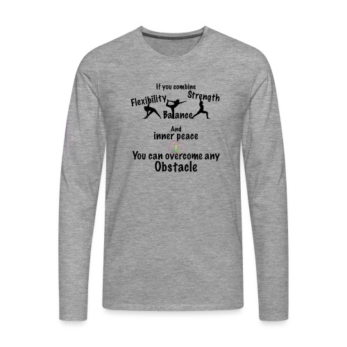 Overcome Obstacle MaitriYoga - T-shirt manches longues Premium Homme