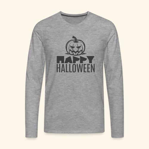 happy halloween pumpkin logo - Camiseta de manga larga premium hombre
