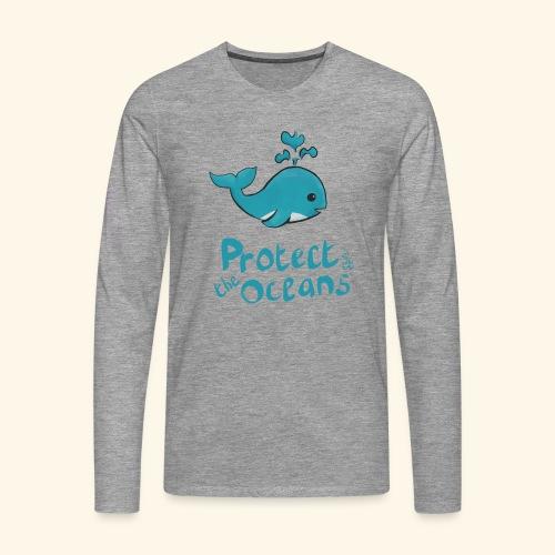 Protèges les océans - T-shirt manches longues Premium Homme