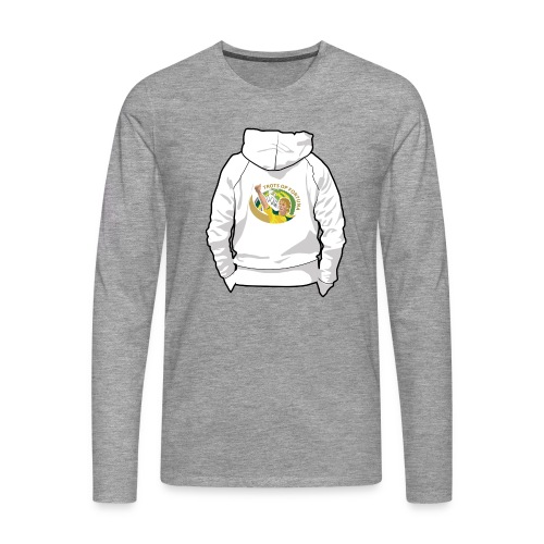 hoodyback - Mannen Premium shirt met lange mouwen