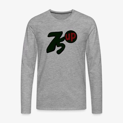 75 Up Logo - Långärmad premium-T-shirt herr