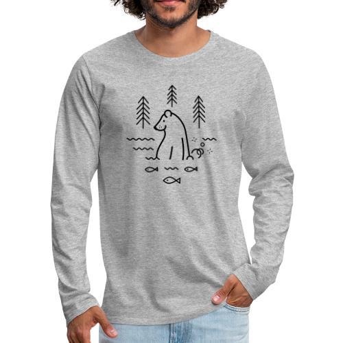 ours qui péte dans l'eau - T-shirt manches longues Premium Homme