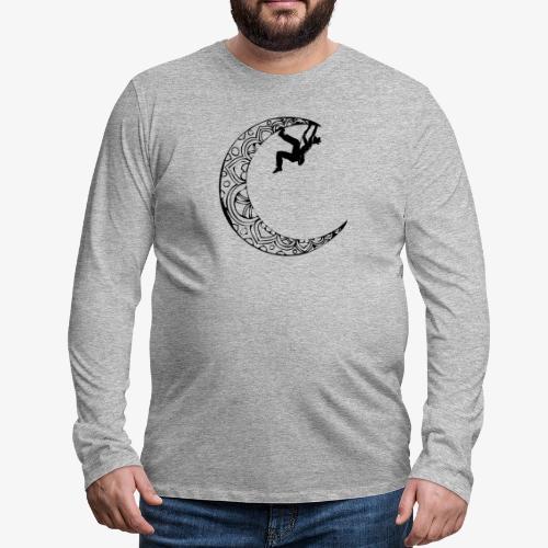 Escaladora en la luna - Woman climber in the moon - Men's Premium Longsleeve Shirt