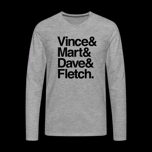 DM Depech Mode Original Lineup - Långärmad premium-T-shirt herr