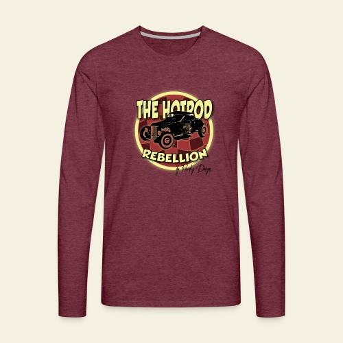 hotrod rebellion - Herre premium T-shirt med lange ærmer