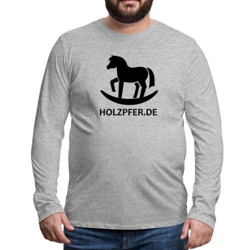 Holzpferde - Männer Premium Langarmshirt