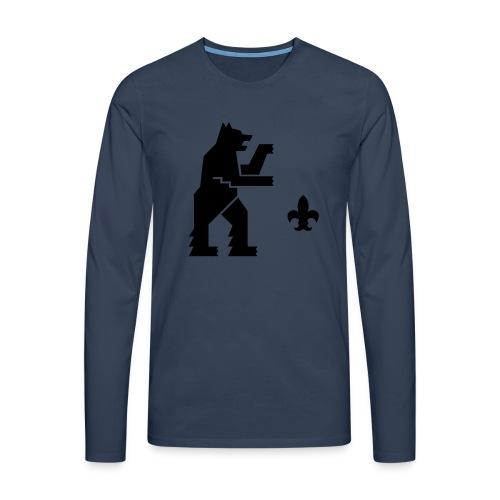 hemelogovektori - Miesten premium pitkähihainen t-paita