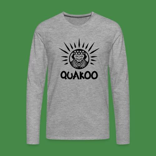 Quakoo Logo - Männer Premium Langarmshirt