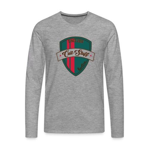 Cult Stuff - Logo grün rot - Männer Premium Langarmshirt