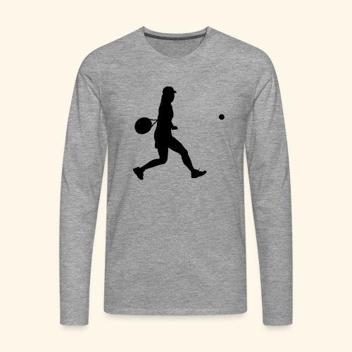 tennis woman 2 - T-shirt manches longues Premium Homme