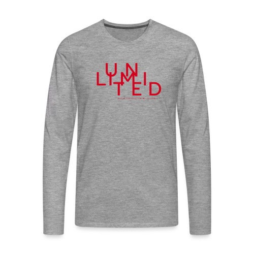 Unlimited red - Men's Premium Longsleeve Shirt