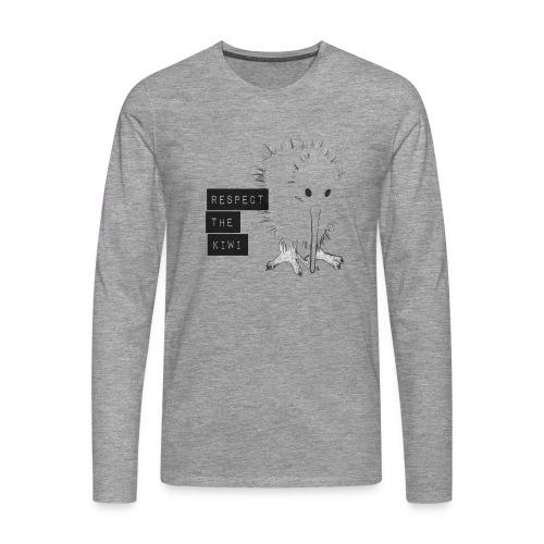 Respect the Kiwi - Männer Premium Langarmshirt